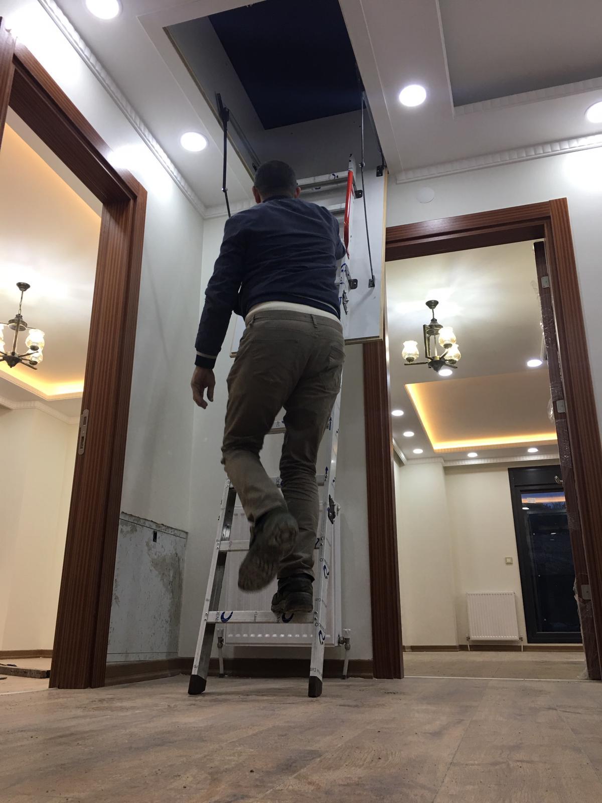 en uygun alüminyum çatı merdivenleri