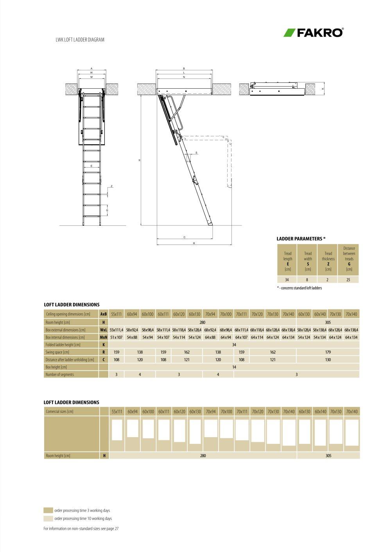fakro lwk ahşap çatı merdivenleri