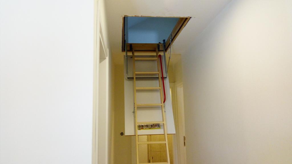 lwk katlanır ahşap çatı merdiveni