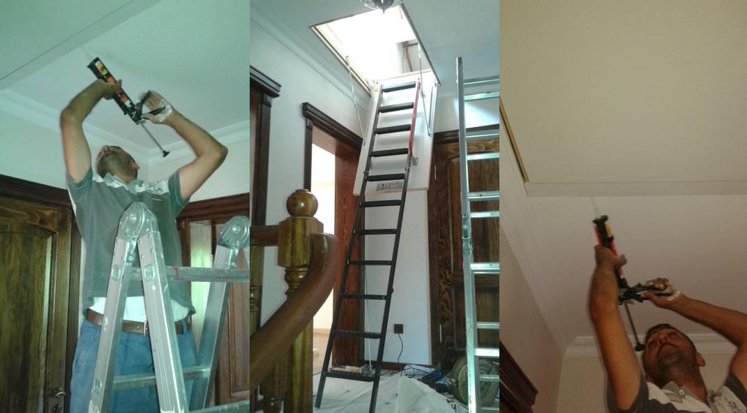 lmk metal çatı merdiveni detayları