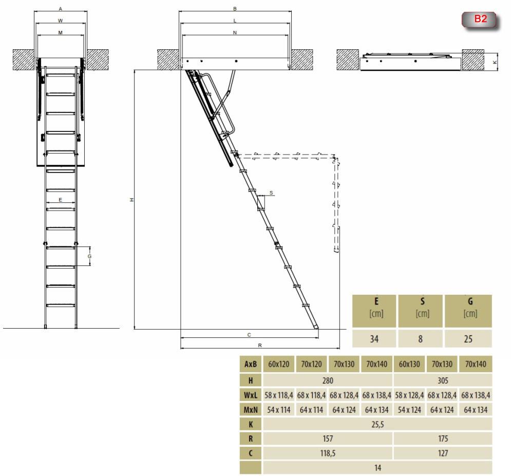 lmk metal tavan arası çatı merdivenleri