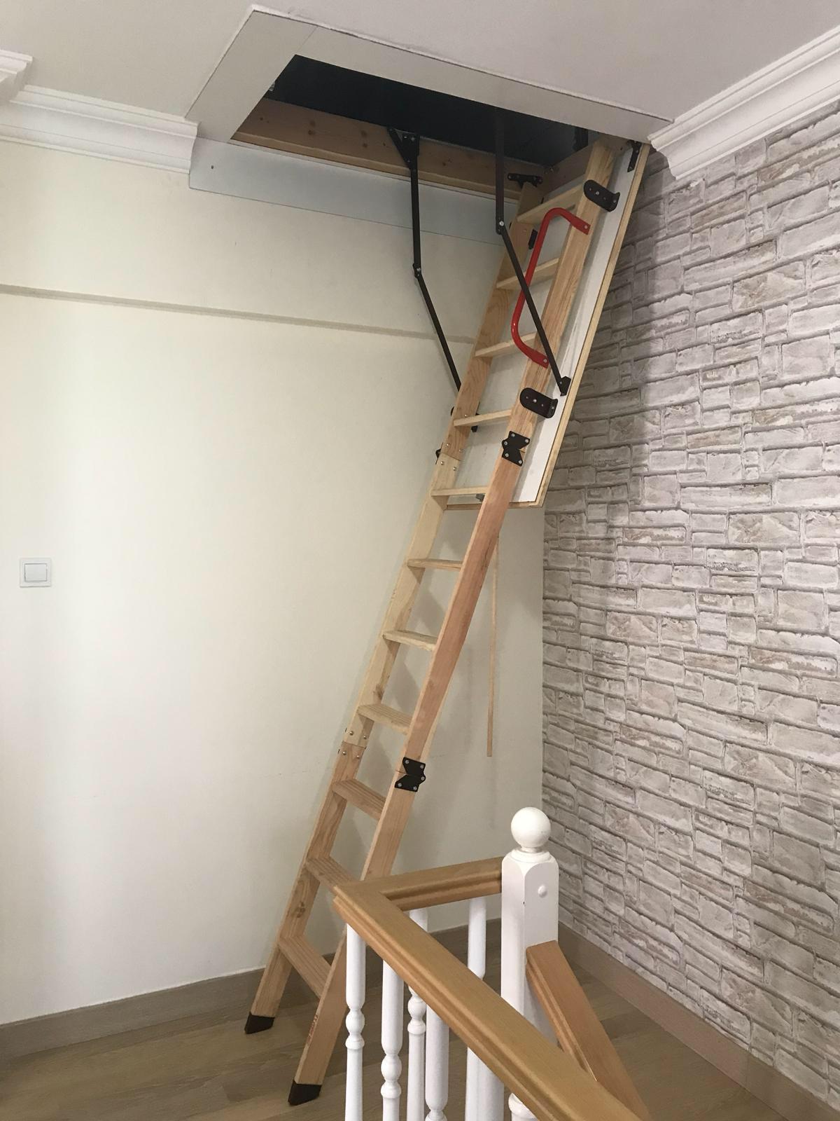 en kaliteli nukan ahşap çatı merdivenleri