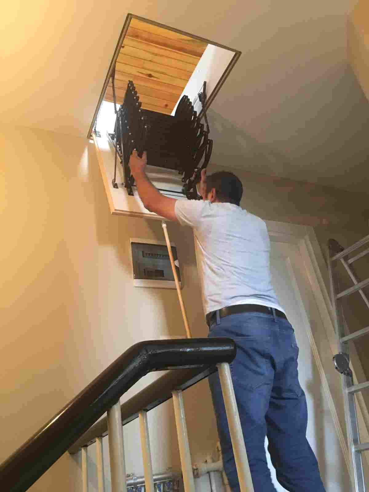 nukan makaslı çatı merdiveni montaj bilgileri